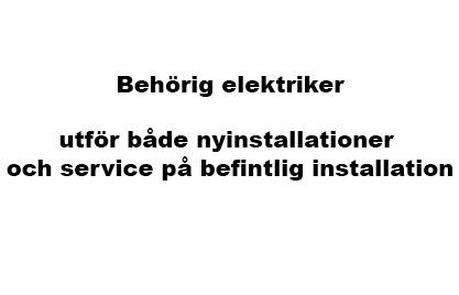 Elinstallationer och service